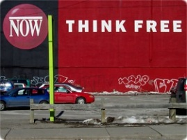 downtown toronto... note that the idea of THINK FREE came BEFORE this photo!