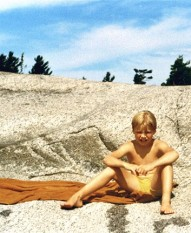me as a kid at Georgian Bay